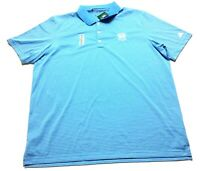 Adidas Golf New Mens Blue Striped Short Sleeve Polo Shirt Size XL