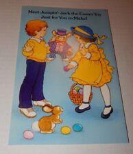 Vintage 1985 American Greetings Jumpin Jack Easter Toy Card