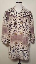 Vintage 1970's Leopard Coat Faux Leopard Fur
