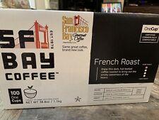 San Francisco SF Bay Coffee French Roast Dark Roast 100 OneCup Coffee Pods K-Cup