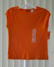 Girls Top Cap Sleeve Orange Greendog  NWT Large 14