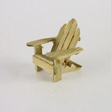 Dollhouse Miniature Artisan Quarter 1:48 SCALE Adirondack Chair, Weathered