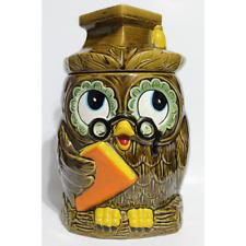 Vintage Graduation Wise Owl Cookie Jar Japan