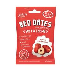 Ÿ'š 12 x Abakus Foods Naturel Doux & Moelleux Jujube fruit rouge dates 30 g