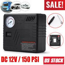 Black Tire Inflator Car Air Pump Compressor Electric Portable Auto DC 12V 150PSI