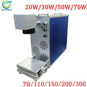 Fiber Laser Marking Machine Shell 110mm Metal Engraving Machine With CE FDA