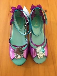 NWT Disney Store Ariel Shoes Costume Shoes Little Mermaid Girls many sizes