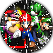 Super Mario Frameless Borderless Wall Clock Nice For Gifts or Decor Y111