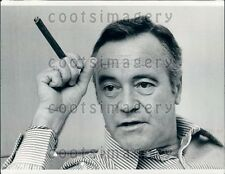 1975 Legendary Actor Jack Lemmon Smoking Cigar Press Photo