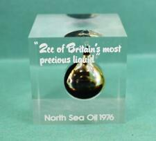 More details for vintage paperweight 1976 north sea oil 2cc of britain's most precious liquid
