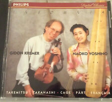 Insomnia Gidon Kremer, Naoko Yoshino Takemitsu,Takakashi Philips PHCP-1812 JAPAN