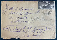 1937 Moscow Russia zeppelin Stamp Cover To Los Angeles CA Usa