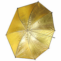 33 inch Black and Gold Reflective Lighting Umbrella for Flash Photography Studio