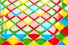 30 Metall Mosaik gelbgold unecht glänzend Mosaikfliesen 2x2cm Mosaiksteine
