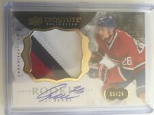 2014-15 Exquisite Jiri Sekac Auto Patch /26 Rookie Upper Deck 14/15