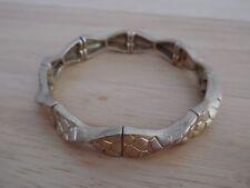 Lia Sophia Sync Twist Matte Gold Stretch Bracelet, Excellent Condition