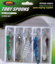 7g Lineaeffe Toby Type Fishing Lures 5 Assorted With Treble Hooks 5020060
