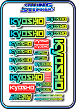 KYOSHO MODEL RC CAR DRONE BOAT BUGGY MINI Z STICKERS DECALS ROBOT R/C BLU/YEL B