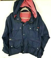 VTG Bulldog Leisurewear Goretex Men Coat Jacket Flannel Lined Medium Many Pocket