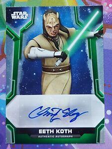 2020 Star Wars Holocron GREEN Autograph CHRIS EDGERLY as EETH KOTH Auto 55/99
