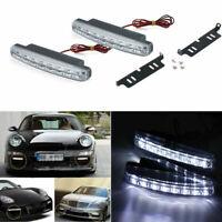 2x 8LED Daytime Running Lights Car Driving DRL Fog Lamp Light Super White 12V