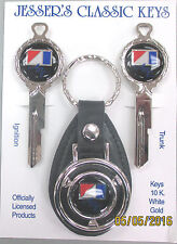 AMC American Motors Corp. Black 3 pc Deluxe Classic Key Set 1968 1969 keys