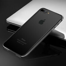 Aluminum Metal Frame Hybrid Bumper Back Clear Case Cover For iPhone X 6S 7 Plus