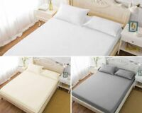 EXTRA DEEP FITTED SHEET SOFT BED SHEETS POLY COTTON SINGLE DOUBLE KING SIZES