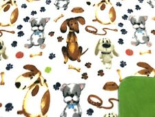 Dog Blanket Dachshunds Dogs Bones Balls Paw Prints Can Be Personalized 28x22
