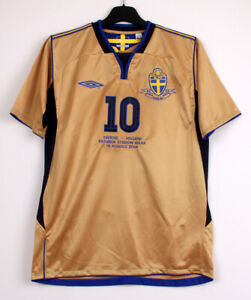 2004-05 SWEDEN 3rd S/S No.10 IBRAHIMOVIC 100th Centenary vs Holland 04-05 jersey