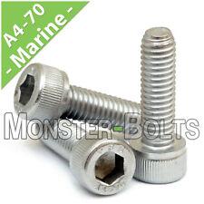 M3 - 0.50 x 6mm  Marine Grade Stainless Steel Socket Head Caps Screws A4 DIN 912