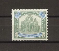 FEDERATED MALAY STATES 1904 SG 50 MLH Cat £325