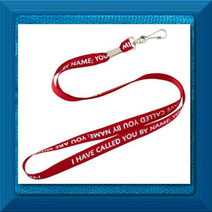 Spiritual Religious Christian I Have Called You by Name Inspirational Lanyard