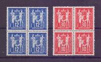 DDR 1949 - MiNr. 243/244 in 4erBlocks postfrisch** - Michel 96,00 € (389)
