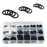 225pcs Rubber O-Ring Washer Seal Sealing Gasket Assort Car Set Kit Black