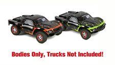 2pk Combo Custom Bodies for Traxxas Slash 1/10 Baja 6811 Truck Orange&GreenMud