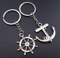 2 Pairs Lovers Ring Keyring Keychain Gift Charm Pendant Bag Purse Car Key Chain