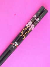 JAPANESE CHOPSTICKS BLACK PINK BLOSSOM CHINESE BIRTHDAY DINNER PARTY HAIR STICK