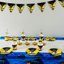62pcs Batman Theme For 12 Kids Child Birthday Party Tableware Set Supplies