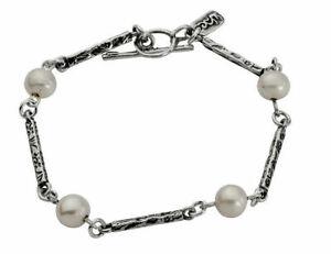 Amazing Women Shablool Sterling Silver Bracelet potato White fresh water pearls