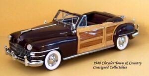 Danbury Mint 1948 Chrysler Town & Country 1/24 MIB!