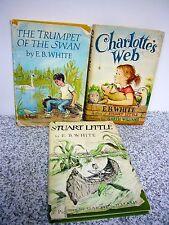 Lot 3 E. B. White, Charlotte's Web, Stuart Little, Trumpet of the Swan (HC/DJ)