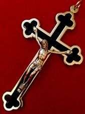 """Crucifix Catholic Cross  Stainless Steel Made In Italy 4,5""""X 2,7"""""""