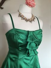 Coast Dress Size 12 10 Emerald Green Satin Removable Straps Strapless Prom Party