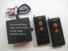 MSD 24V DC 20A momentary relay switch with 2 long range remote control RX408M2
