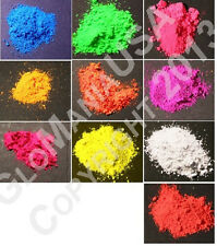 UV Neon Black Light Pigment Powder 10 Color Set Mini Sampler, Fluorescent,