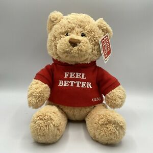 GUND FEEL TEDDY BEAR Hugs (feel Better Red Sweater) #319713 PLUSH TOY 12""