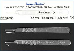 No. 3 Swann & Morton Scalpel Handle For # 10 11 12 13 14 15 16 Surgical Blades