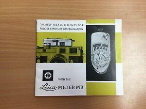 Leica Meter MR Genuine Original Print Manual Guide - Metrawatt AG Nurnberg