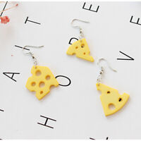 Newest Lady Fashion Cheese Cute Earrings Funny Pendant Jewelry Accessories JA